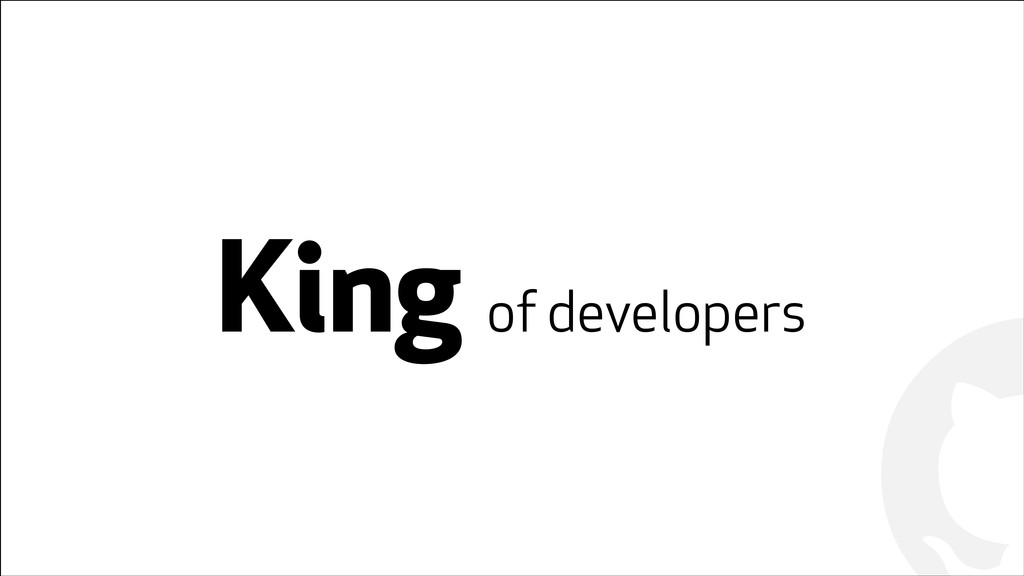 ! ! King of developers