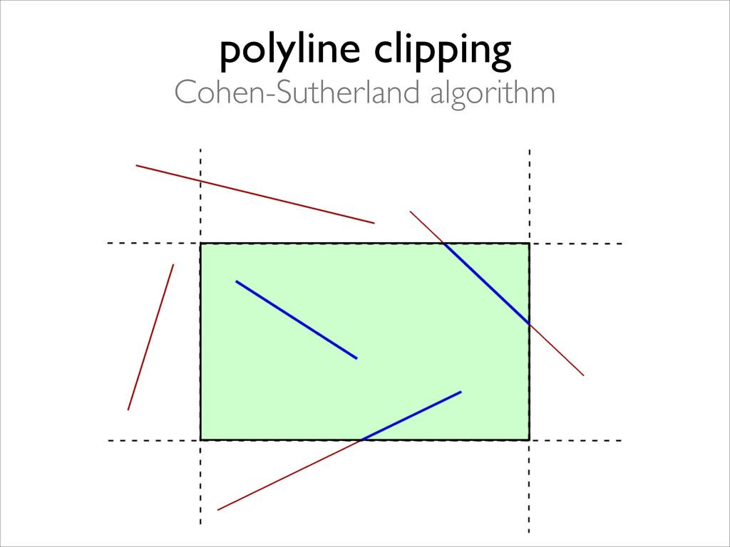 polyline clipping  Cohen-Sutherland algorithm