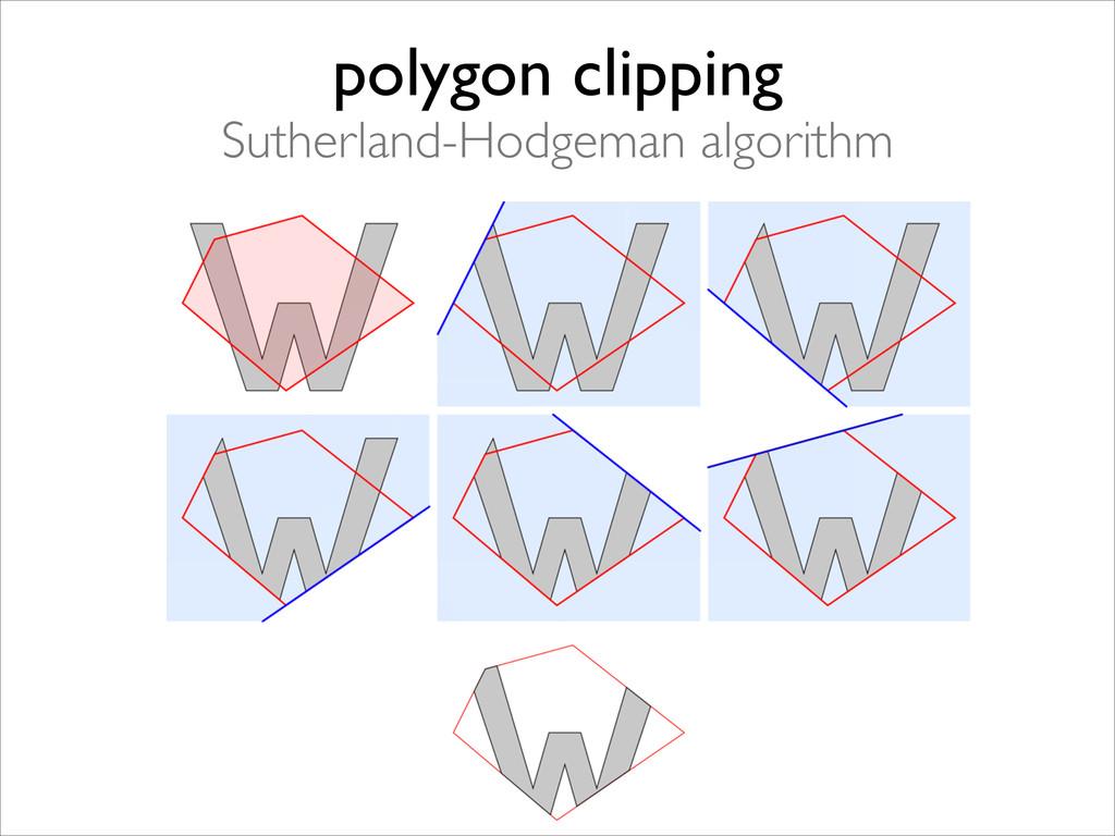 polygon clipping  Sutherland-Hodgeman algorit...