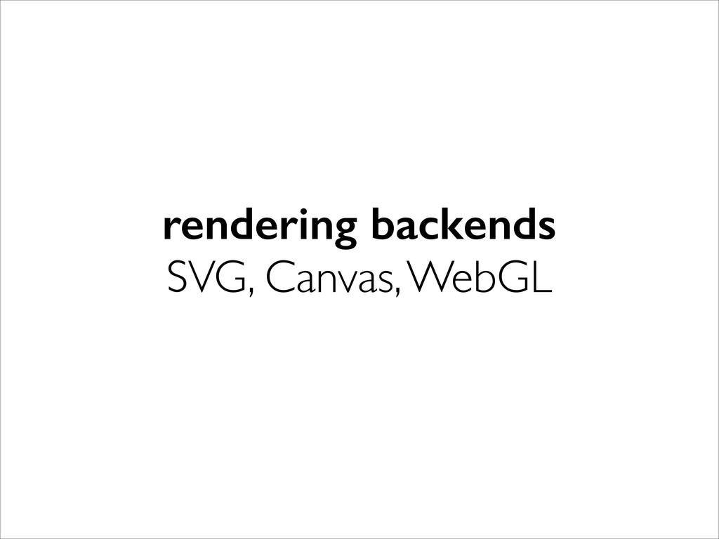 rendering backends SVG, Canvas, WebGL
