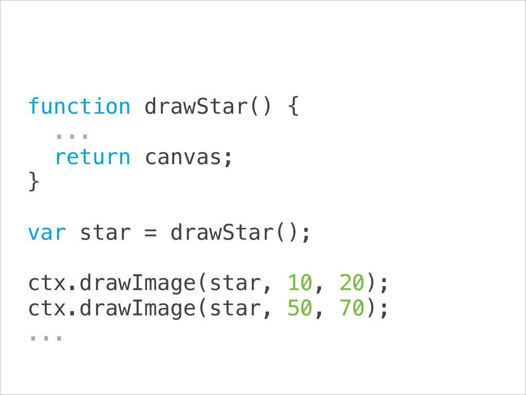 function drawStar() { ... return canvas; } ...