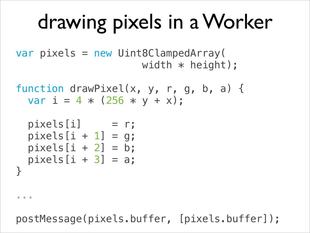 var pixels = new Uint8ClampedArray( width * he...
