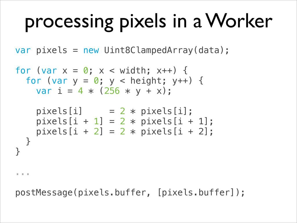 var pixels = new Uint8ClampedArray(data); ! fo...