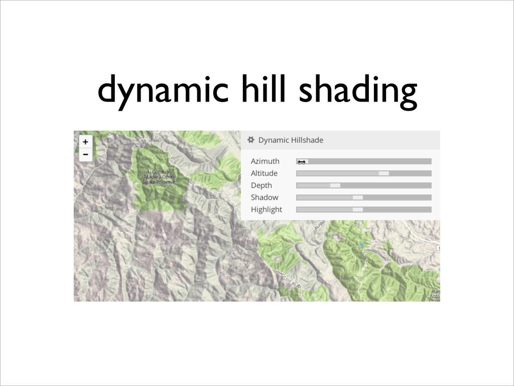 dynamic hill shading