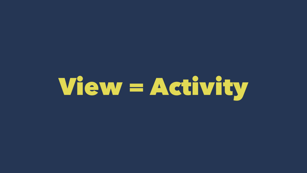 View = Activity
