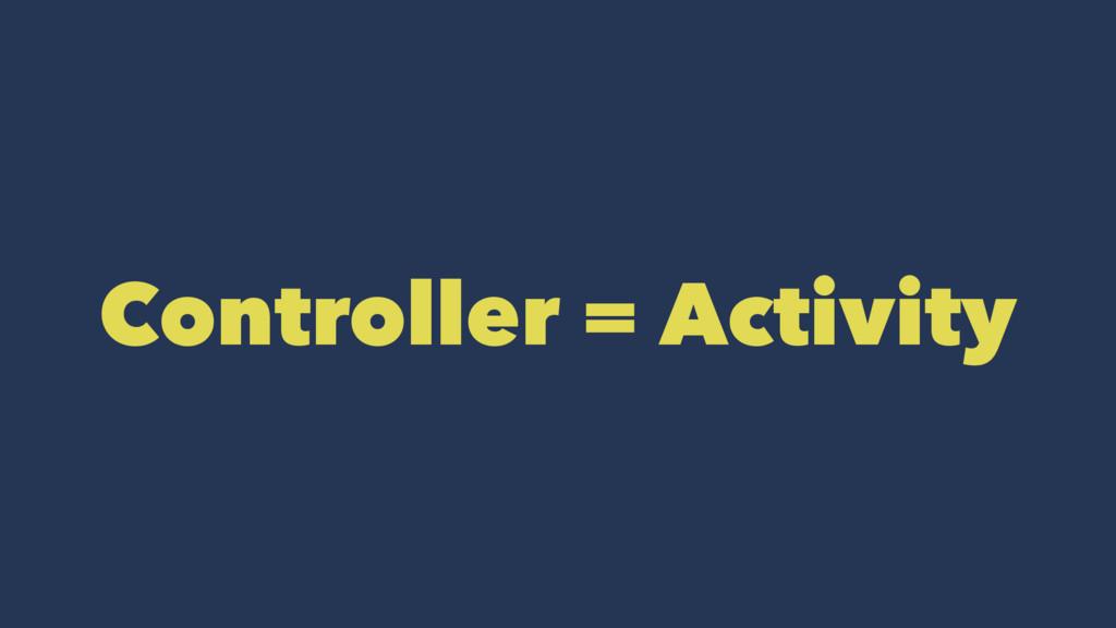 Controller = Activity
