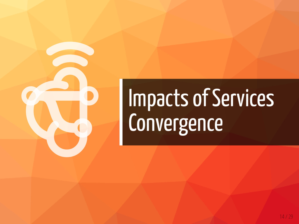   Impacts of Services Convergence 14 / 29