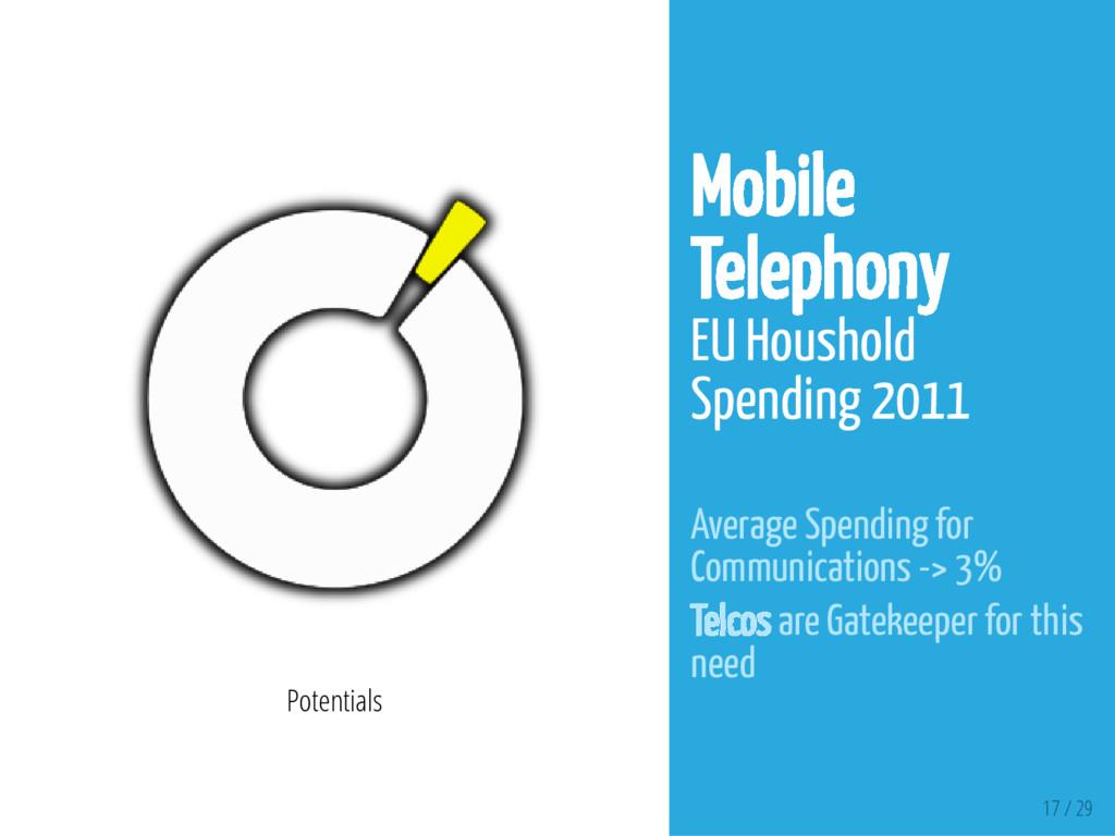 17 / 29 Potentials Mobile Telephony EU Houshold...