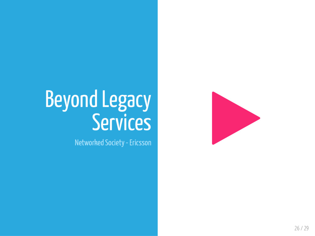 26 / 29 Beyond Legacy Services Networked Societ...