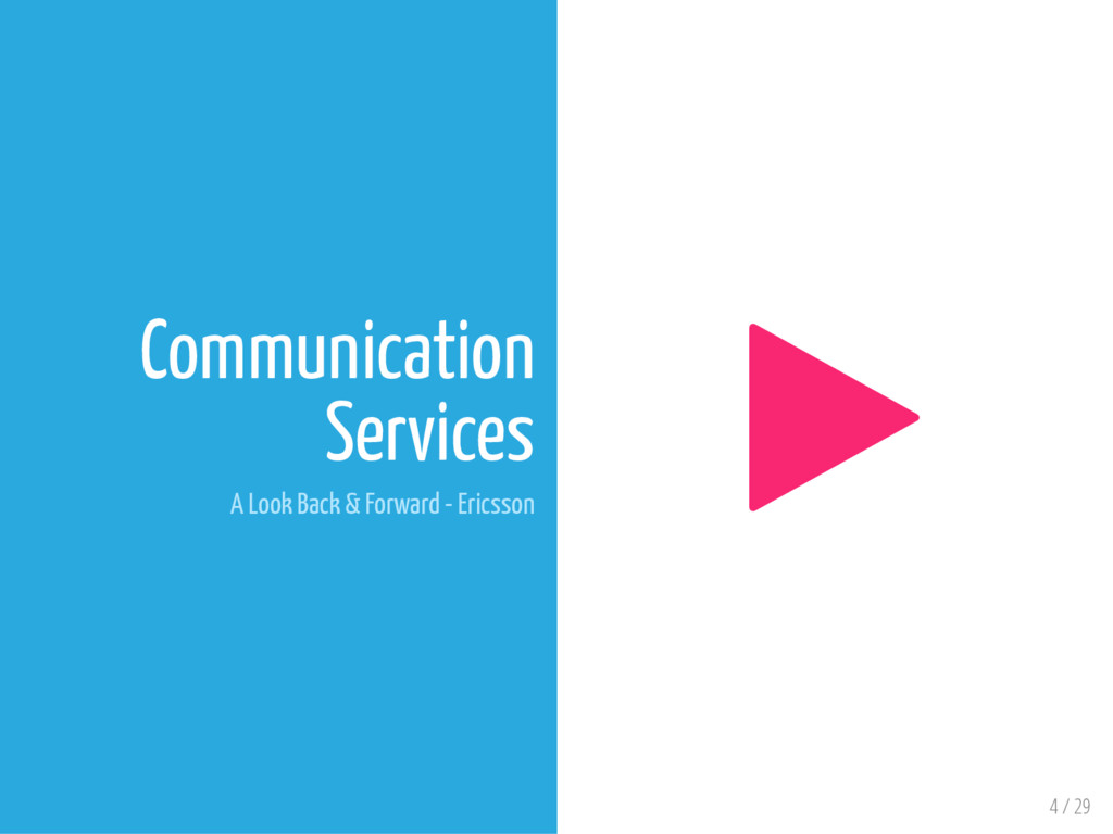 4 / 29 Communication Services A Look Back & For...