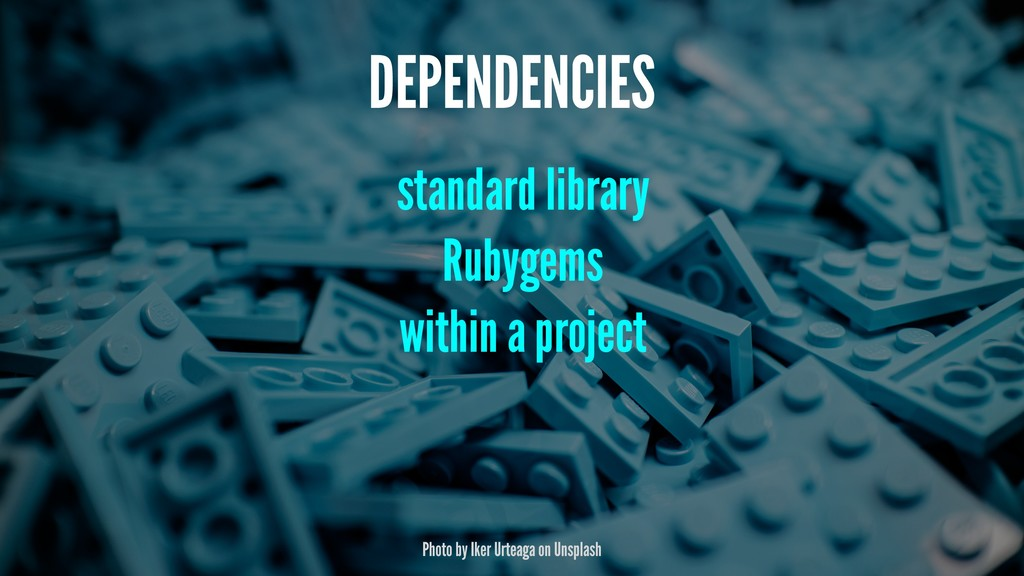 DEPENDENCIES standard library Rubygems within a...