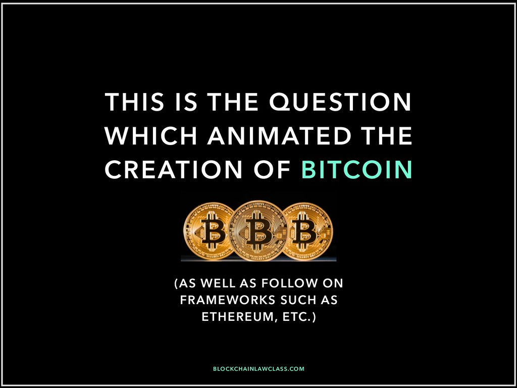 THIS IS THE QUESTION WHICH ANIMATED THE CREATIO...