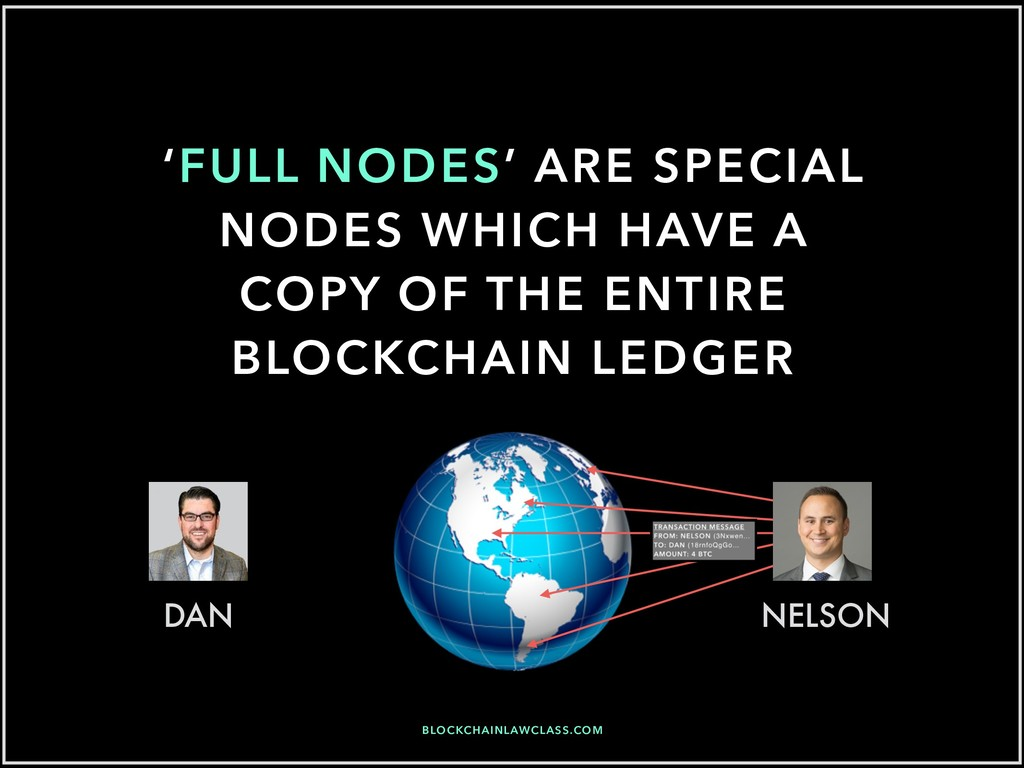 'FULL NODES' ARE SPECIAL NODES WHICH HAVE A COP...