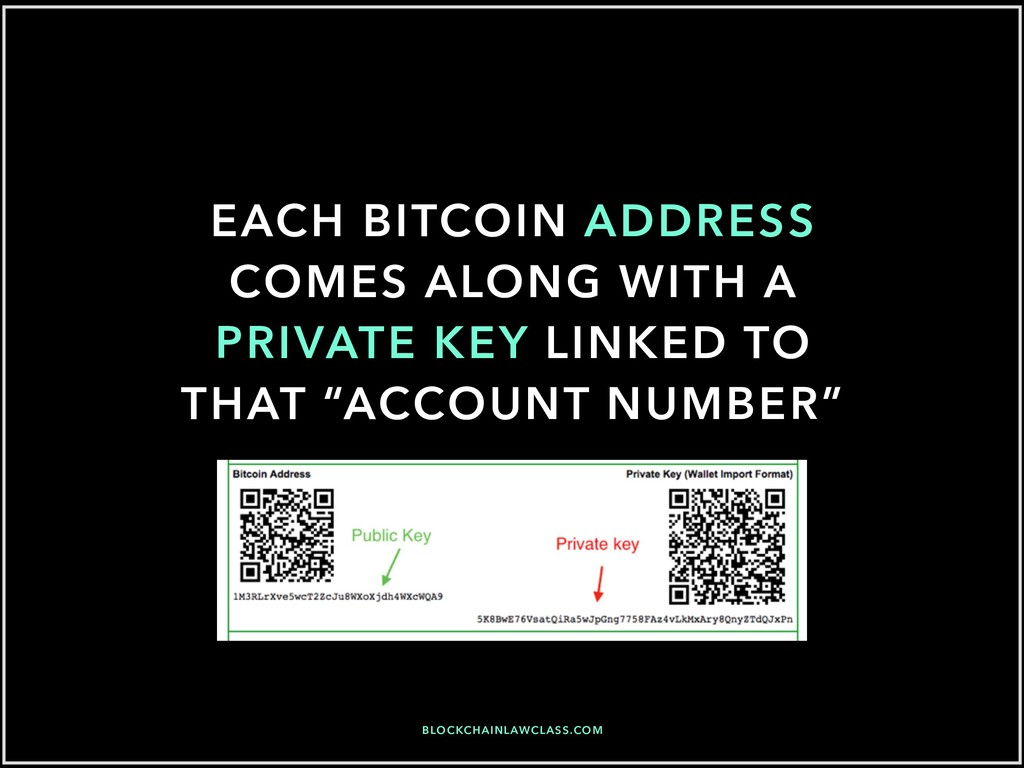 EACH BITCOIN ADDRESS COMES ALONG WITH A PRIVATE...