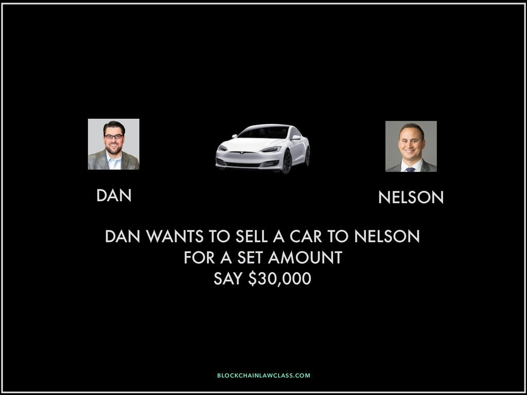 DAN NELSON DAN WANTS TO SELL A CAR TO NELSON FO...