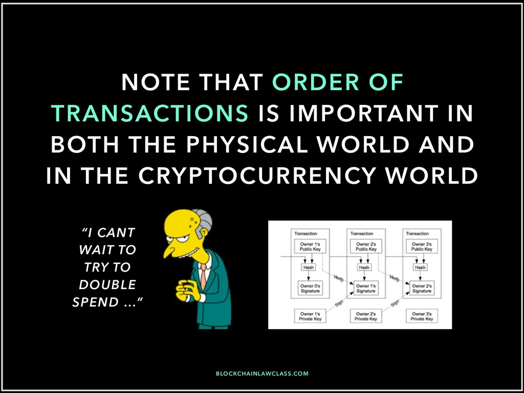 NOTE THAT ORDER OF TRANSACTIONS IS IMPORTANT IN...
