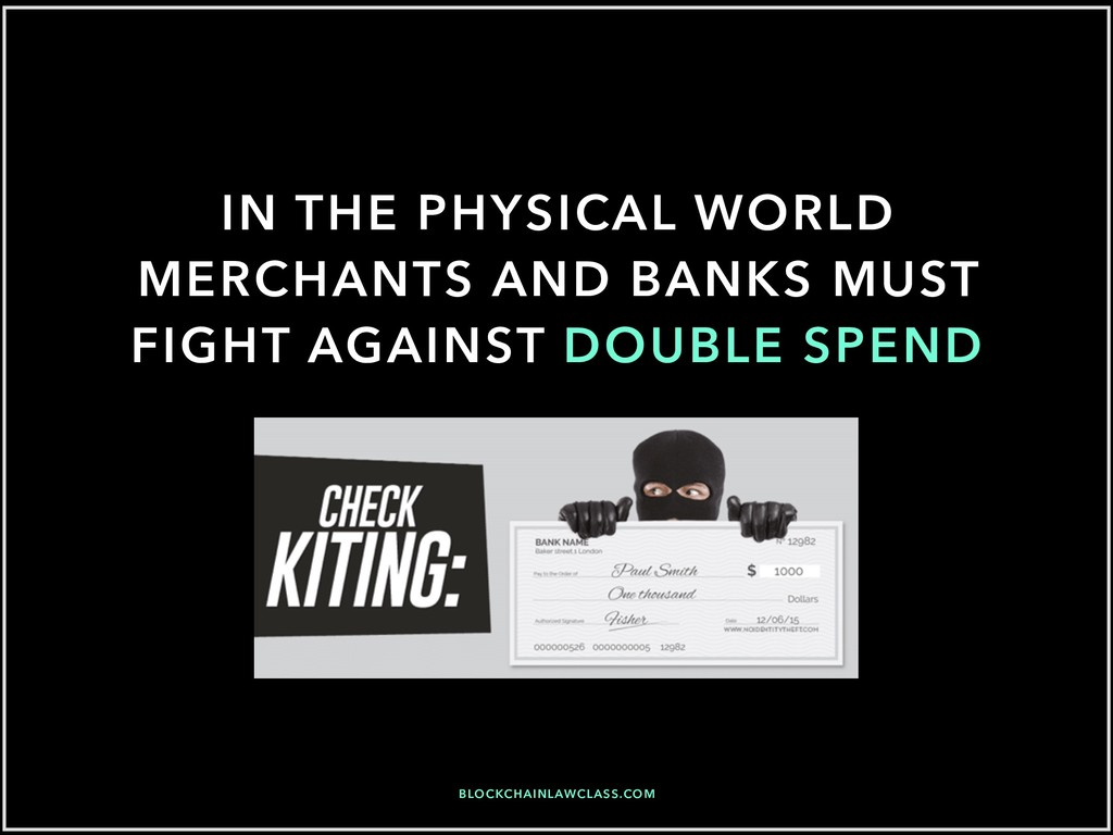 IN THE PHYSICAL WORLD MERCHANTS AND BANKS MUST ...