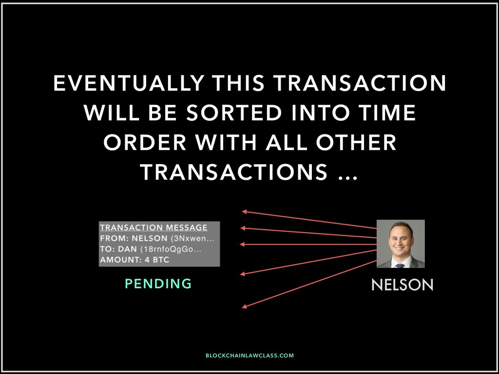 EVENTUALLY THIS TRANSACTION WILL BE SORTED INTO...