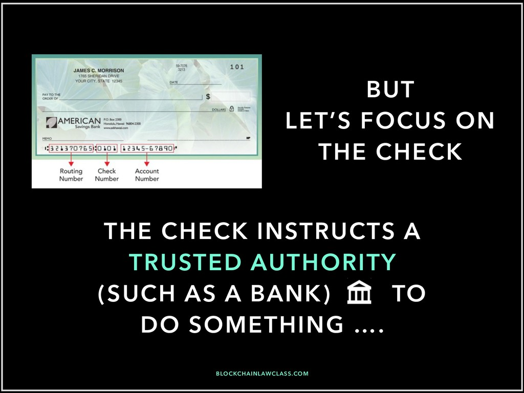 BUT LET'S FOCUS ON THE CHECK THE CHECK INSTRUCT...