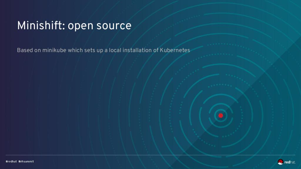 Minishift: open source Based on minikube which ...