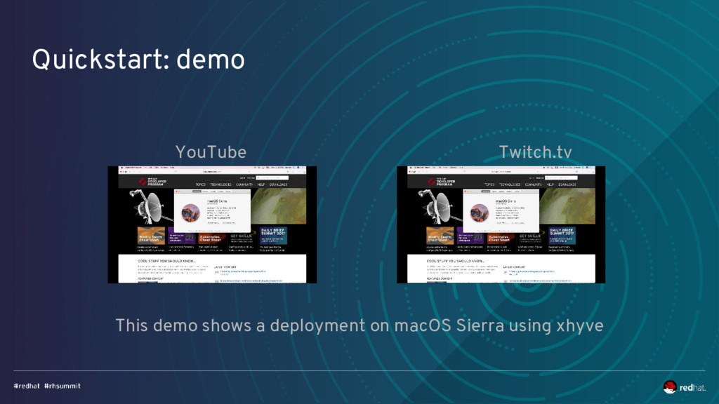 Quickstart: demo YouTube Twitch.tv This demo sh...