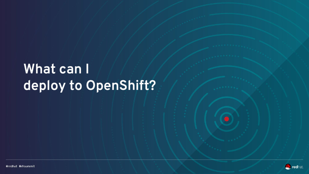 What can I deploy to OpenShift?