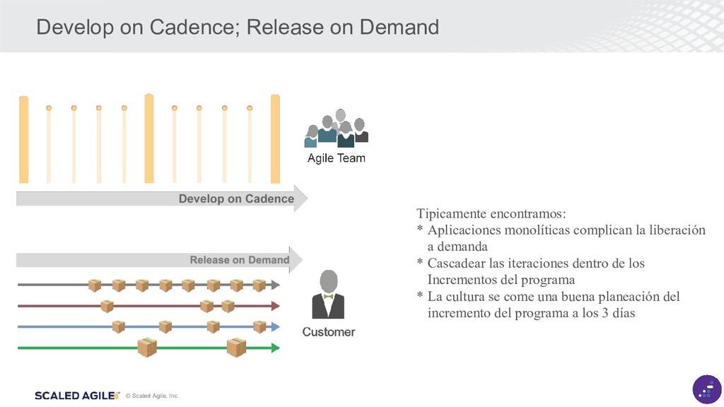 © Scaled Agile, Inc. Develop on Cadence; Releas...