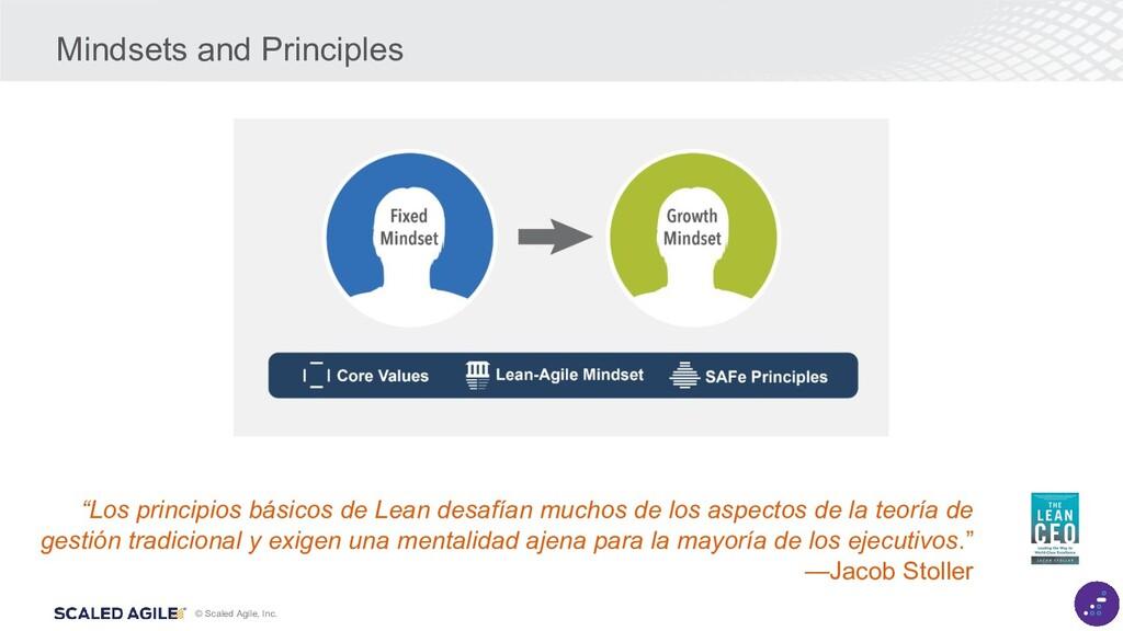 """© Scaled Agile, Inc. """"Los principios básicos de..."""