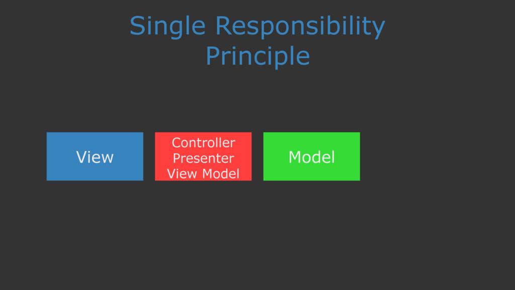 Single Responsibility Principle View Controller...