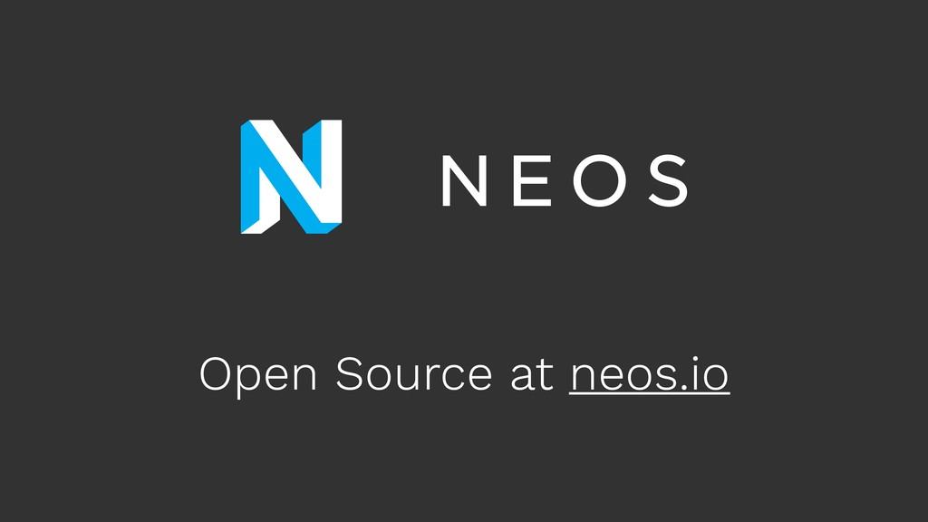 Open Source at neos.io