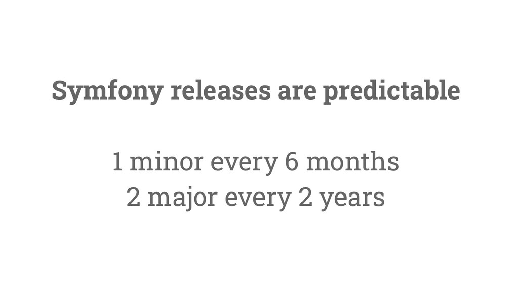 40 Symfony releases are predictable 1 minor eve...