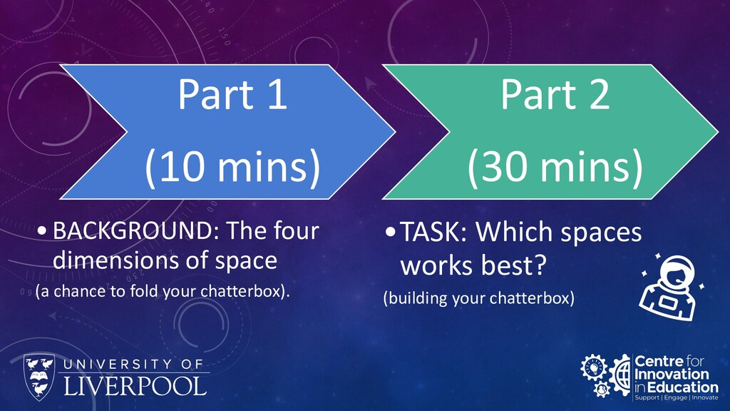 Part 1 (10 mins) •BACKGROUND: The four dimensio...