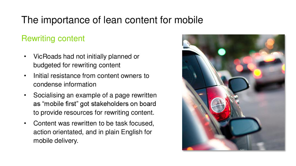 The importance of lean content for mobile • Vic...