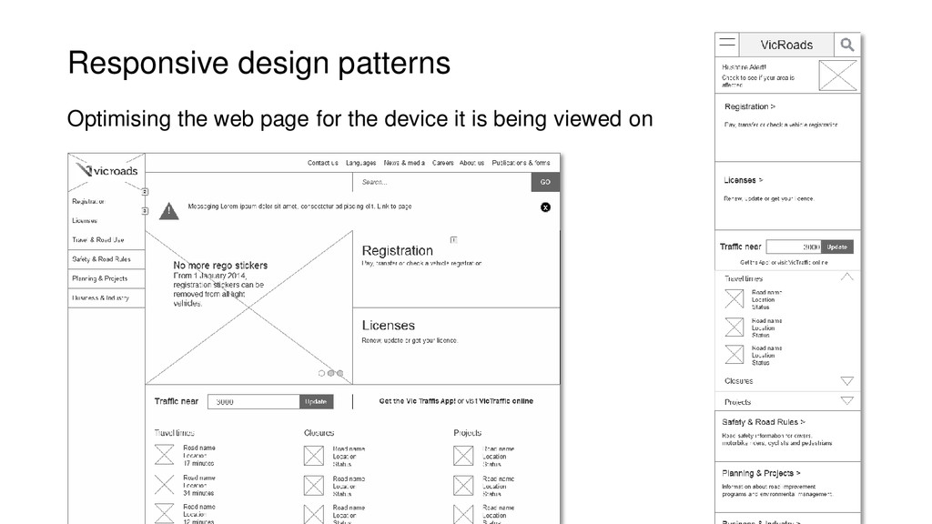 Responsive design patterns Optimising the web p...