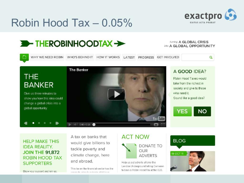 Robin Hood Tax – 0.05%