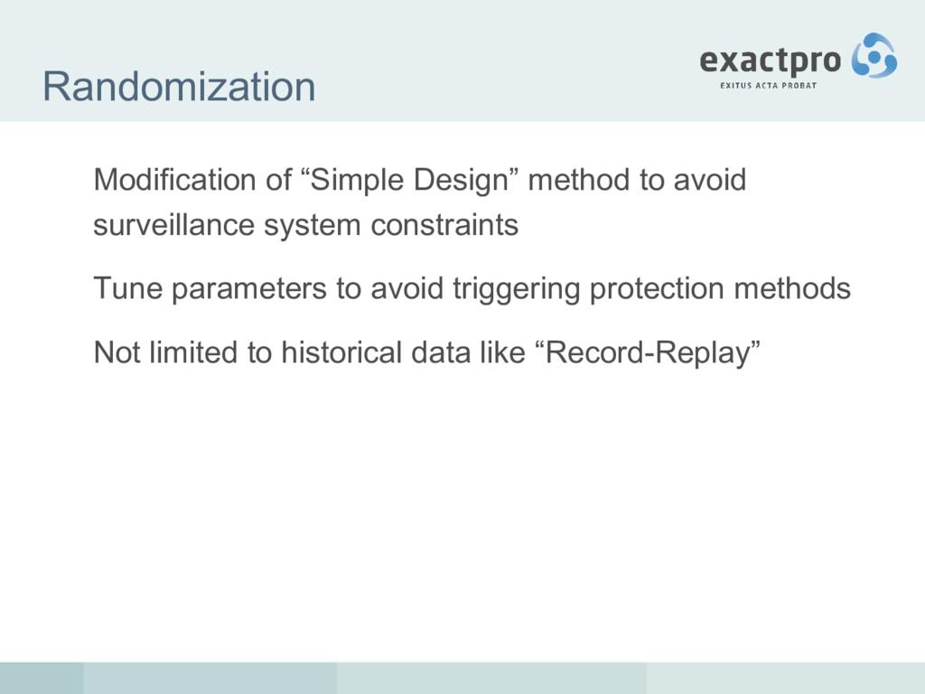 """Randomization Modification of """"Simple Design"""" m..."""