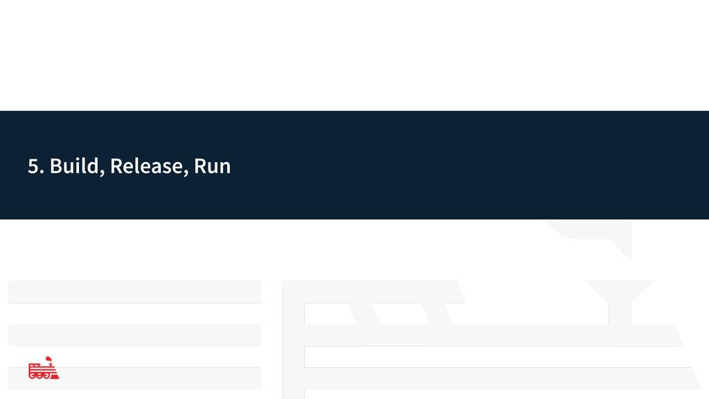 5. Build, Release, Run