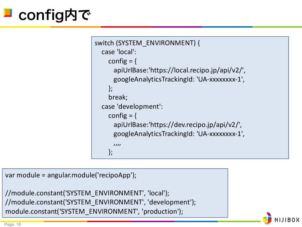 Page. 18 DPOGJHͰ var module = angular.module('...