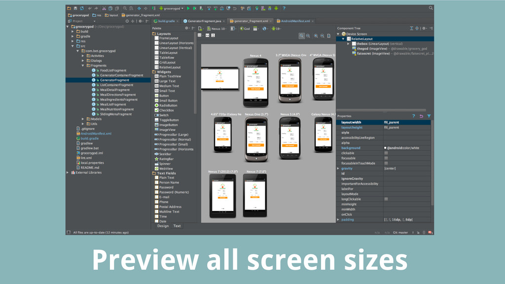 Preview all screen sizes
