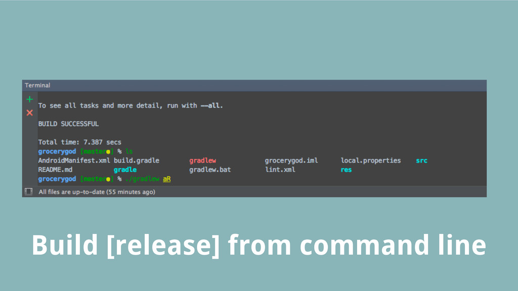 Build [release] from command line