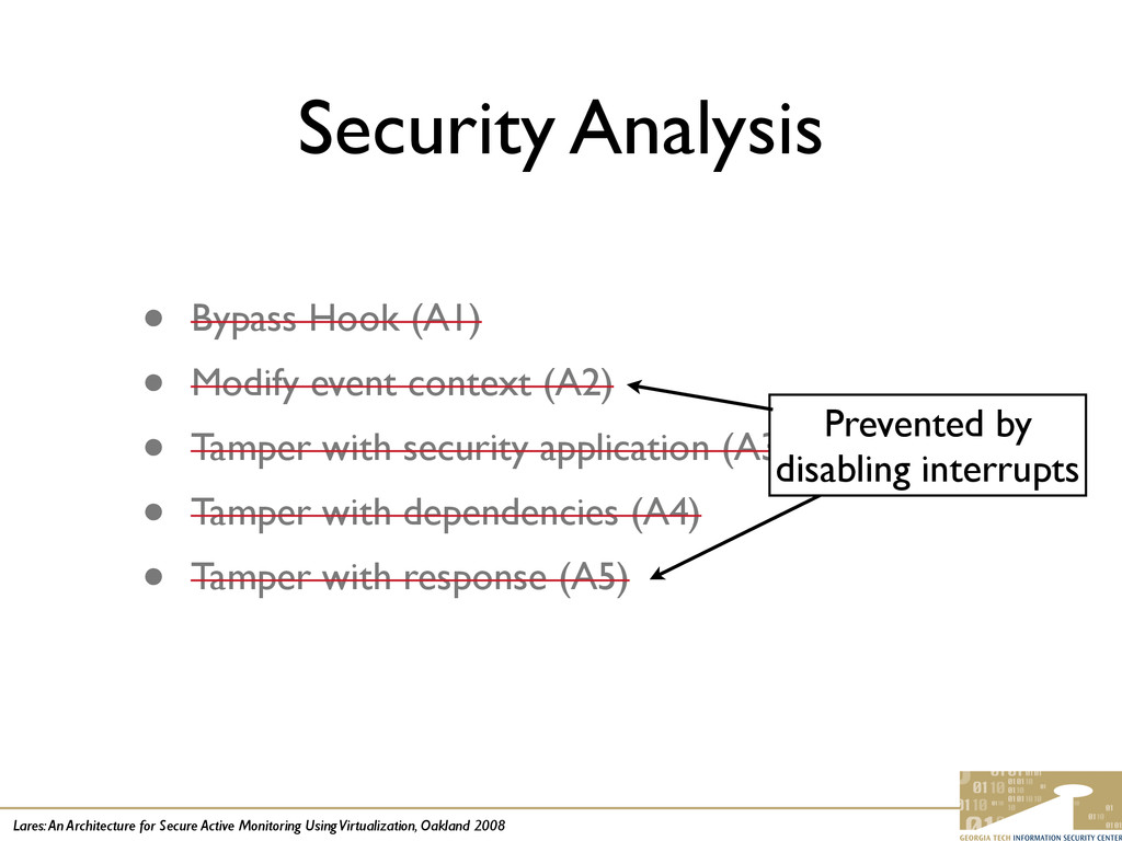 Lares: An Architecture for Secure Active Monito...