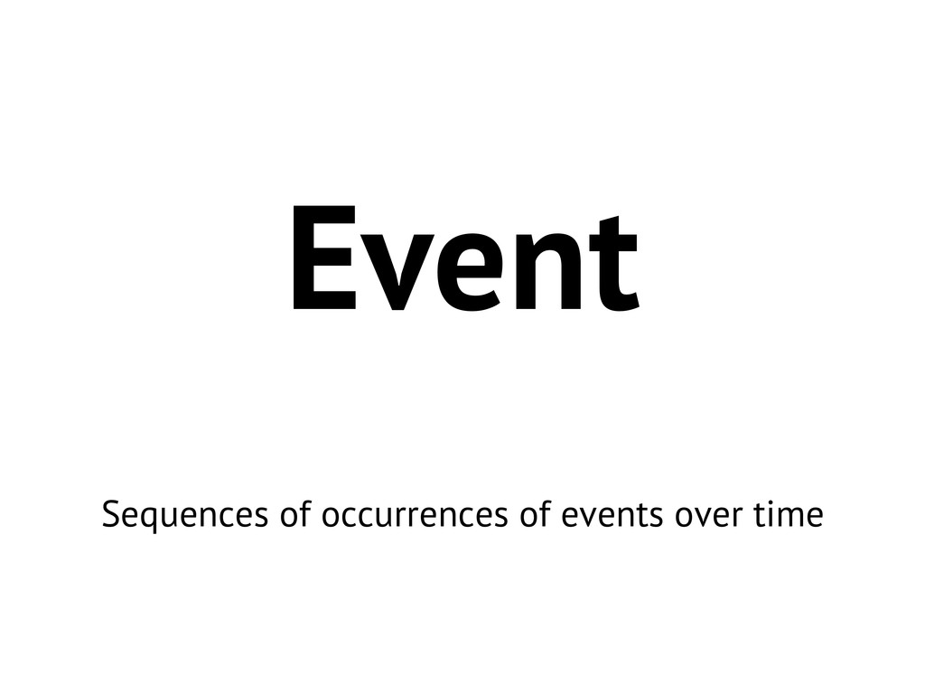 Event Sequences of occurrences of events over t...