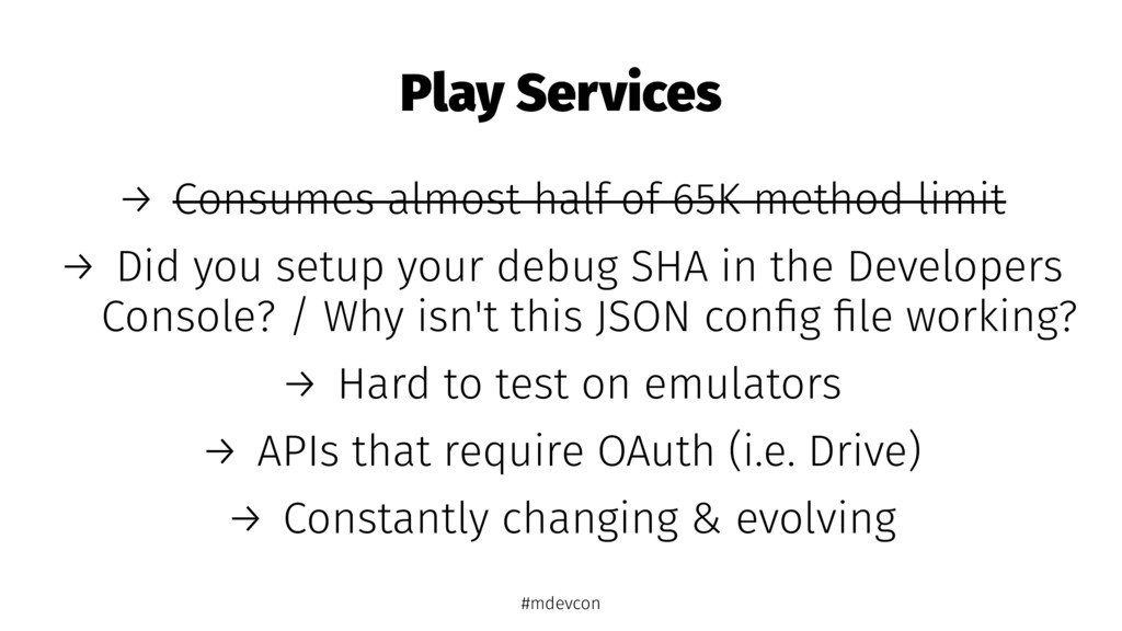 Play Services → Consumes almost half of 65K met...