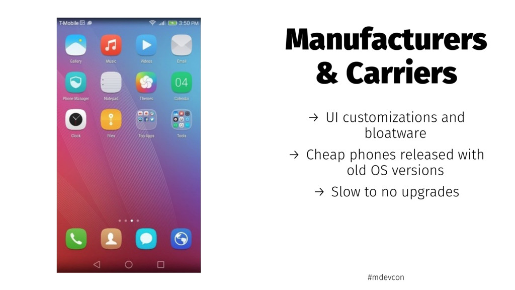 Manufacturers & Carriers → UI customizations an...