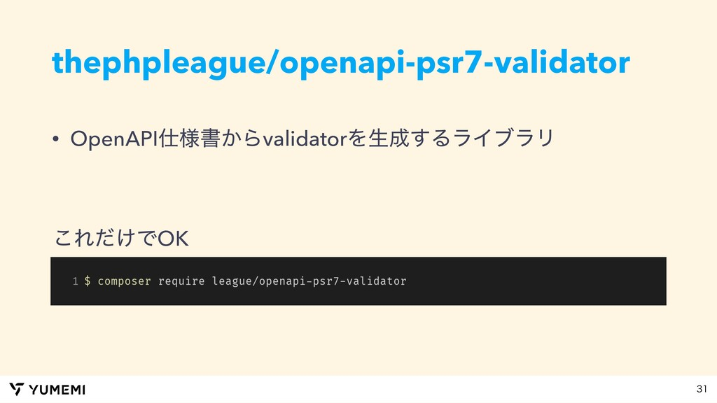thephpleague/openapi-psr7-validator • OpenAPI༷...