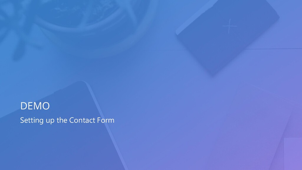 Setting up the Contact Form DEMO
