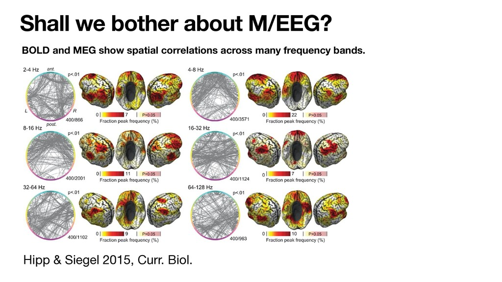 Shall we bother about M/EEG? Hipp & Siegel 2015...