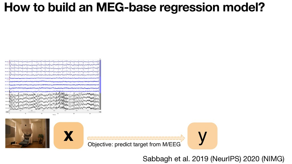 How to build an MEG-base regression model? Obje...