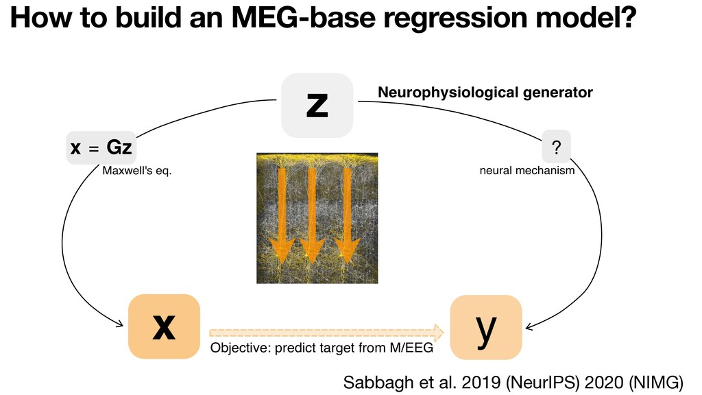 How to build an MEG-base regression model? z ? ...