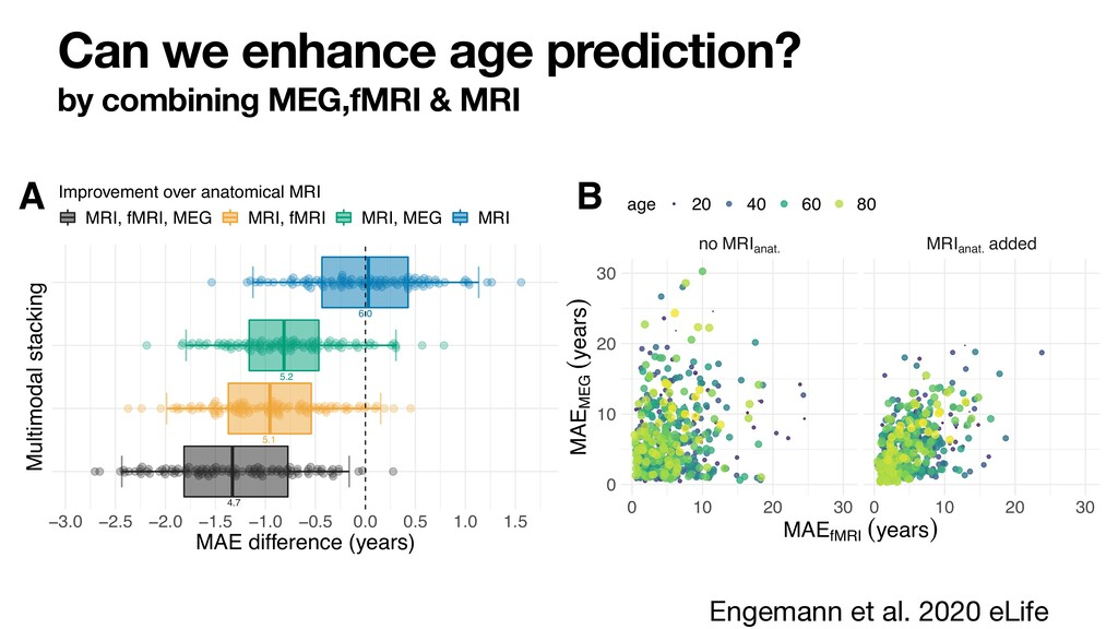 Can we enhance age prediction? by combining MEG...